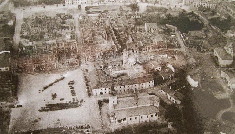 Wieluń, Miasto pozbombardowaniu wdniu 01.09.1939 r.